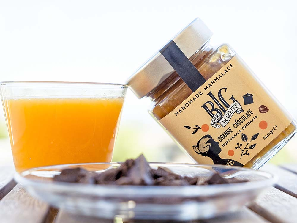 BIG Foods Born in Greece Χειροποίητα Ελληνικά προϊόντα Αγία Παρασκευή Μαρμελάδα Πορτοκάλι - Σοκολάτα