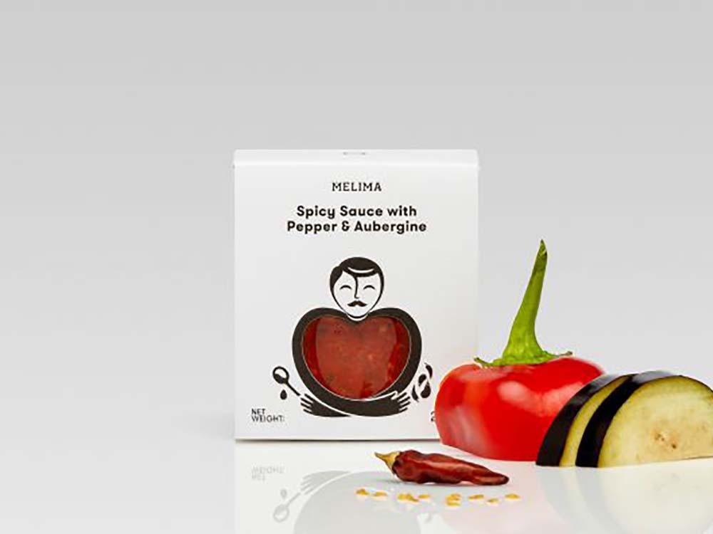 MELIMA εργαστήριο ελληνικών προϊόντων Άγιος Στέφανος Καυτερή Σάλτσα Κόκκινης Πιπεριάς & Μελιτζάνας