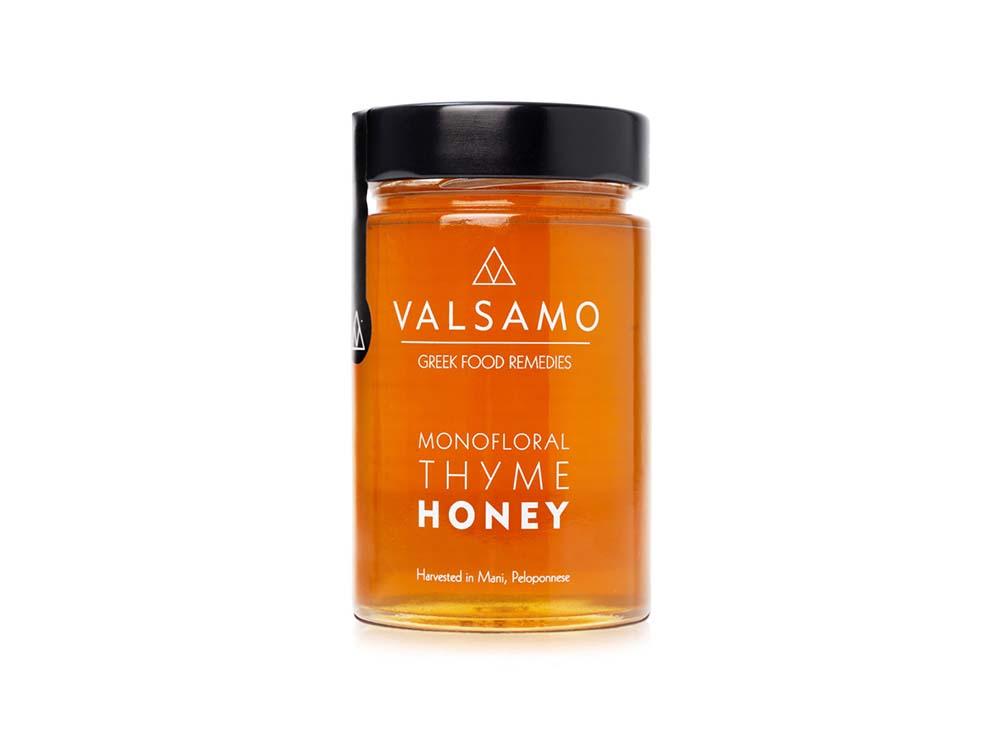 Valsamo Greek Food Remedies Monofloral Thyme Honey Μέλι Θυμαρίσιο